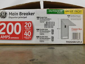 General Electric Nsb Tm2020rcupl3 Main Breaker Panel Outdoor 200a 240v 1ph 3wire