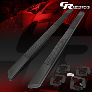 Pair 5 Wide Black Ss Running Boards For 2007 2020 Toyota Tundra Crewmax Cab