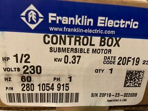 New Franklin Electric Control Box 1 2 Hp 230 Volt 280 1054 915