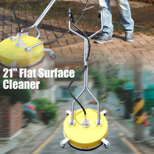 21 Flat Surface Cleaner For Hot Cold Water Power Pressure Washer 4000psi 275bar