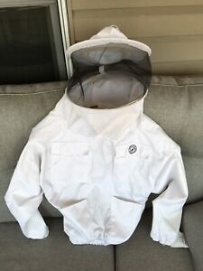 Humble Bee 510 l Polycotton Beekeeping Suit Round Veil Smock White Top