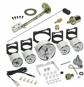 Autometer 2006 Prestige Pearl 5 Piece Gauge Kit Speedometer Oil Fuel Water Volts