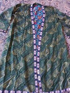 Uzbek Vintage Women S Handmade Dress Chapan Jacket Coat Kaltacha