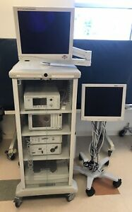 Stryker Endoscopy Tower System 1088 Hd Video W Addntl Monitor Camera Head Biomed