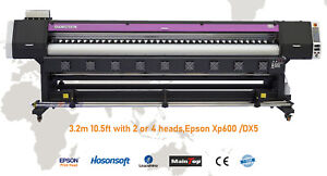 New 3 2m 10 5ft Large Format Printer Eco Solvent rip Outdoor Wide Banners Vinyls