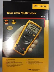 Fluke 175 True Rms Ac dc 1000v Digital Multimeter 6000 Count Dmm Min Max New