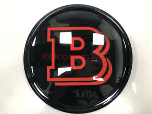 Mercedes Benz Glc gle gls Brabus Front Grille Badge Mirror Gloss Red Emblem