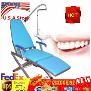 Folding Dental Portable Chair Folding Mobile Stool W Led Light Water Supply Us