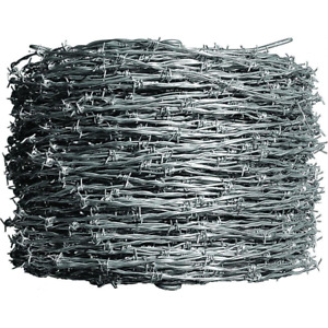 Farmgard Barbed Wire Durable Galvanized 4 point Class I 1 320 Ft 12 1 2 Gauge