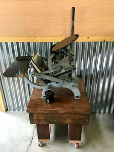 Craftsman 6 5 x10 Tabletop Letterpress Printing Press