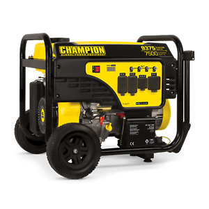 100814 7500 9375w Champion Generator Electric Start W 50amp