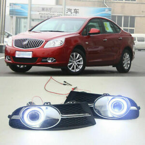 Car Fog Light Led Bulbs Cob Angel Ring Projector Lens Cover For Buick Excelle Gt