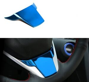 Gloss Blue Steering Wheel Cover Lid Wing Lip Spoiler For Civic 16 17 18 19 20