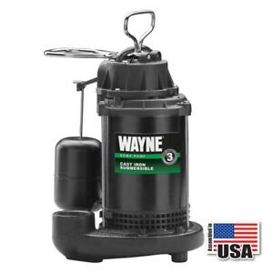 Wayne Water Systems cdu790 1 3hp Cast Iron Submersible Sump Pump