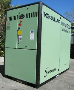 Sullair 75hp Rotary Screw Air Compressor 5509 V a Variable Speed Drive Vsd