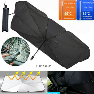Foldable Car Sun Shade Umbrella Windshield Cover For Block Heat Uv S Size
