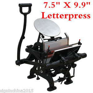 Brand New 7 5 X 9 9 Manual Letterpress Printing Machine