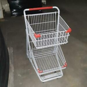 Mini Shopping Carts Double Basket Metal Small 2 Tier Lot 10 Used Store Fixtures