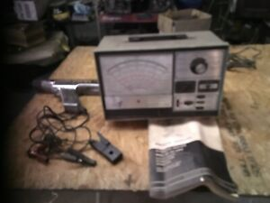 Vintage Sears Automotive Engine Analyzer Tester Model 161 21042 W Timing Light