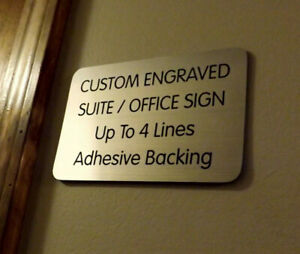 Custom Engraved Copper 4x6 Office Suite Sign Small Business Wall Door Plaque