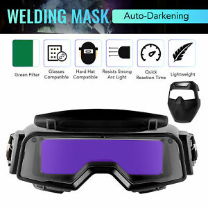Welding Mask With Detachable Auto Darkening Goggles For Welding Grinding Cutting