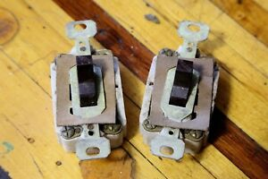 Lot Of 2 Vintage Paulding Start stop On Off Switches Industrial Light Lamp