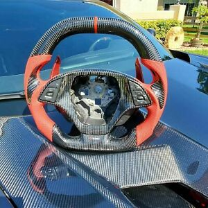 C7 Corvette Carbon Fiber Steering Wheel Custom Made