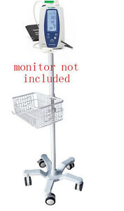 Rolling Stand For Welch allyn Spot 420 Vital Sign Monitor New 301 Big Wheel