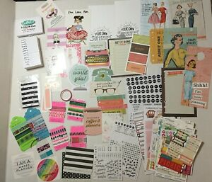 Planner Lot Inserts Journal Cards Stickers Bookmarks Stamps Washi Tape Misc