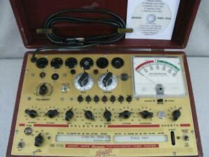 Hickok 600a Mutual Conductance Tube Tester Calibrated Near Perfect Specs