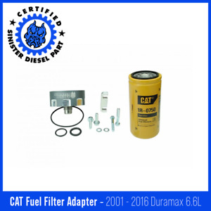 Sinister Diesel Cat Fuel Filter Adapter For 2001 2016 Gm Duramax 6 6l gray