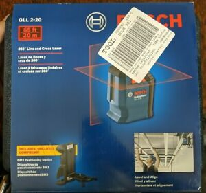 Bosch Gll 2 20 S 360 Horizontal Cross line Laser New cr