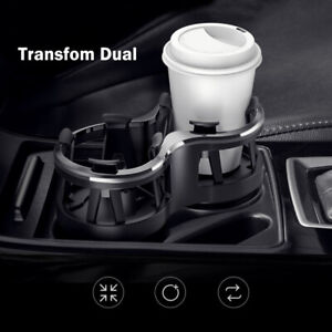 Center Console Multi Transform Double Cup Holder For Universal Car All Vehicle