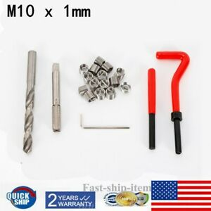 Thread Repair Kit M10 X 1mm Metric Thread Repair Insert Kit Hand Tool Set