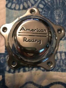American Racing Chrome Custom Wheel Center Cap Set Of One 1 Pn 10843 Used