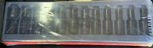 Snap On 312iplm 1 2in Flank Drive Metric Swivel Socket Set 12pc Free Shipping