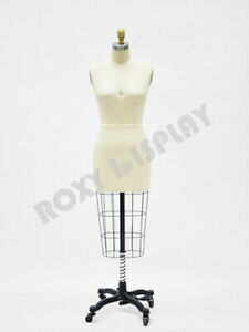 None collapsible Shoulder Female Pro Working Dress Form Half Size 8 st size8nc