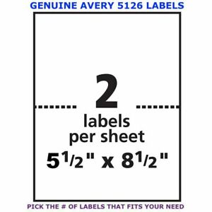 Avery Trueblock Laser Shipping Label 5 5 X 8 5 5126 Pick Your Own Of Label