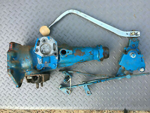 64 Ford Fairlane Toploader 4 Speed Tailhousing C40r 7a040 A W Hurst Shifter