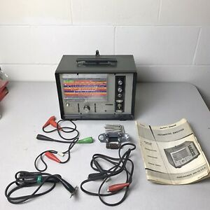 Vintage Sears Penske 244 21033 Automotive Analyzer With Accessories And Manual