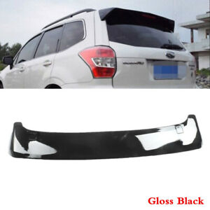 Fit Fo Subaru Forester 2014 2018 Black Rear Tailgate Roof Top Spoiler Abs Wing