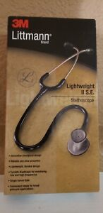 3m Littmann Lightweight Ii S e Stethoscope 2450 Black Tube Open Box