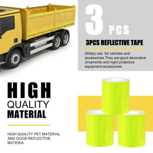 Self adhesive Roll Tape Sticker Decal 10 Yellow Color Reflective Safety Warning