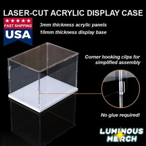 Acrylic Display Case Self assembly Clear Cube Box Uv Dustproof Figure Protection