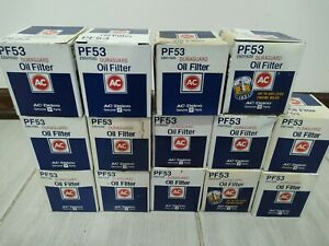 Vintage Pf53 Ac Delco Oil Filters X14