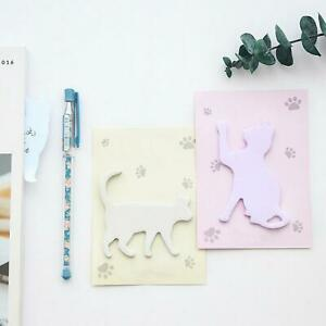 Cute Cat Sticky Notes Cat Silhouette Sticky Note Colorful Cat Outline Memo Pad
