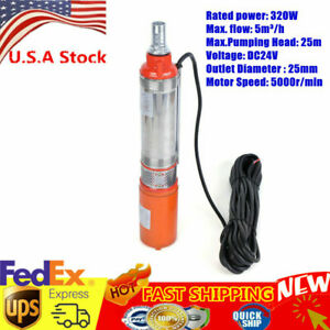 Dc24v Electric Solar Water Pump Submersible Bore Hole Deep Well 5m h Watering