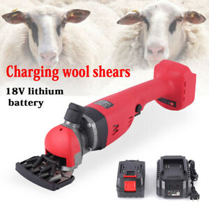 Cordless Electric Sheep Goat Shears Animal Shearing Grooming Clipper W Battery