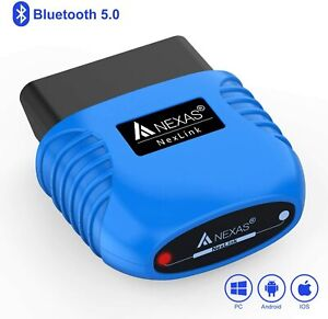 Nexlink Bluetooth 5 0 Diagnostic Scanner For Iphone Android Windows Obd2 eob
