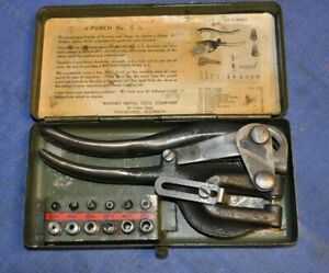 Whitney No 5 Junior Hand Punch Set Made In Rockford Il